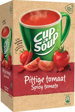 Cup-a-Soup spicy tomato, pak van 21 zakjes