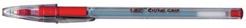 Bic stylo bille Cristal Grip rouge