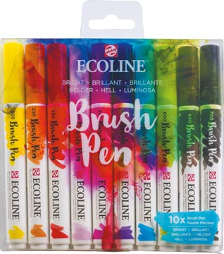 Talens Ecoline Brush pen, etui van 10 stuks, Helder