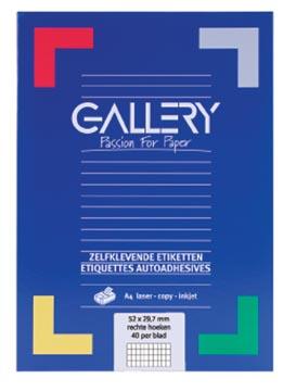 Gallery witte etiketten ft 52,5 x 29,7 mm (b x h), rechte hoeken, doos van 4.000 etiketten