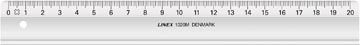 Linex liniaal, transparant, 20 cm