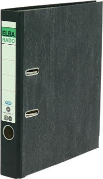 Elba Rado classeur, ft A4, en carton, dos de 5 cm, marbré, noir