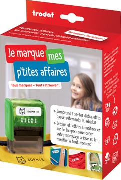 Trodat Label Your Life textiel-stempel, Frans