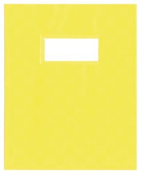 Protège-cahiers ft 23 x 30 cm, jaune