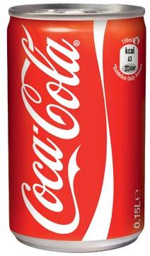 Coca-Cola frisdrank, mini blik van 15 cl, pak van 24 stuks
