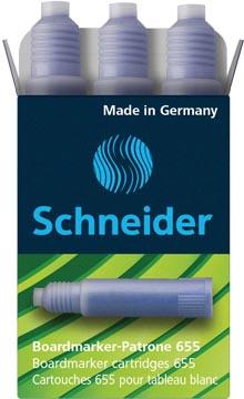 Schneider inktpatroon Maxx Eco 655, doosje met 3 vullingen, blauw