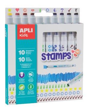 Apli Kids feutre Stamps, blister de 10 pièces