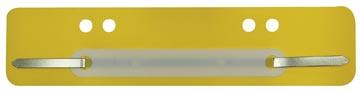 Fixe-dossiers, jaune, boîte de 100 pièces