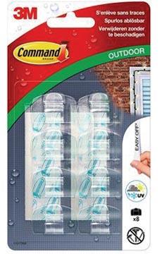 Command decohaken, voor buitengebruik, clipstrip van 12 blisters