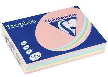 Clairefontaine Trophée Pastel A4, 80 g, 5 x 100 vel, geassorteerde kleuren