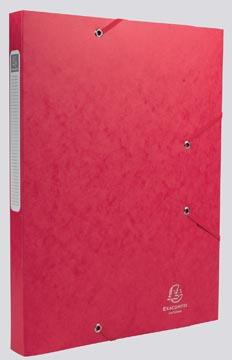 Exacompta Boîte de classement Cartobox dos de 2,5 cm, rouge, épaisseur 5/10e
