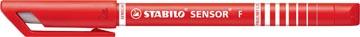 STABILO SENSOR fineliner, 0,3 mm, rouge