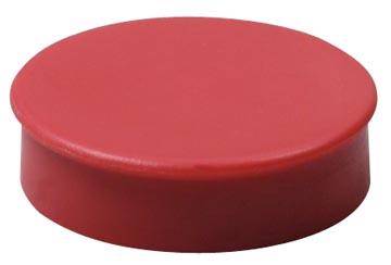Nobo magneten diameter van 20 mm, rood, blister van 8 stuks