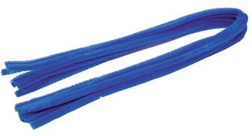 Bouhon ficelle chenille bleu, paquet de 10 pièces