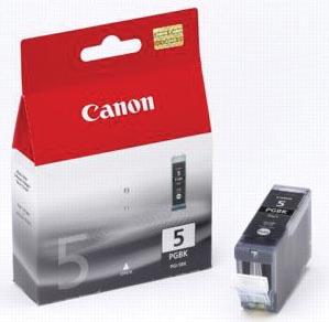 Canon inktcartridge PGI-5BK, 800 pagina's, OEM 0628B029, met beveiligingsysteem, zwart