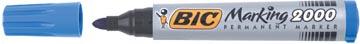Bic marqueur permanent 2000-2300 bleu, pointe ogive, largeur de trait: 1,7 mm