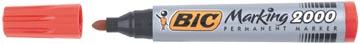 Bic permanent marker 2000-2300 rood, schrijfbreedte 1,7 mm, ronde punt