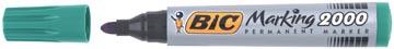 Bic marqueur permanent 2000-2300 vert, pointe ogive, largeur de trait: 1,7 mm