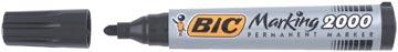 Bic permanent marker 2000-2300 zwart, schrijfbreedte 1,7 mm, ronde punt