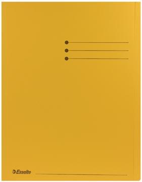 Esselte dossiermap geel, pak van 100 stuks