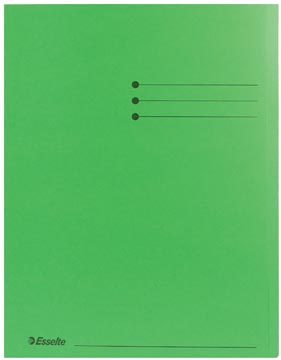 Esselte chemise de classement, vert, paquet de 100 pièces