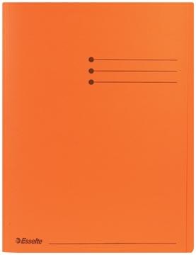 Esselte chemise de classement orange, paquet de 100 pièces