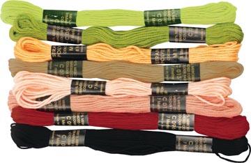 Graine Créative Fils polyester, 7 m, 8 couleurs, automne