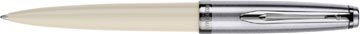 Waterman balpen Embleme Ivory Chrome Trim met medium punt