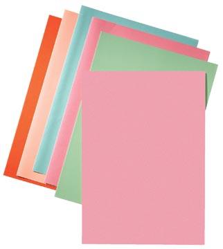 Esselte chemise de classement rose, papier de 80 g/m², paquet de 250 pièces