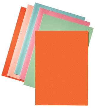 Esselte dossiermap oranje, papier van 80 g/m², pak van 250 stuks