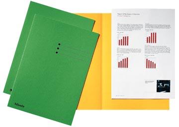Esselte dossiermap groen, karton van 180 g/m², pak van 100 stuks