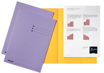 Esselte chemise de classement lilas, carton de 180 g/m², paquet de 100 pièces