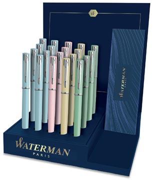 Waterman stylo bille Allure présentoir de 20 pièces en couleurs assorties pastel
