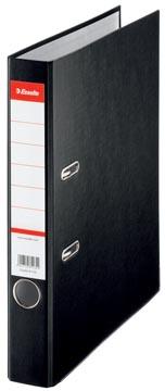 Esselte classeur à levier, en carton, ft A4, dos de 5 cm, noir