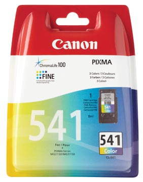 Canon cartouche d'encre CL-541, 3 couleurs, 180 pages, OEM 5227B005, 3 couleurs