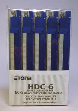 Etona cassette pour agrafeuse EC-3, capacité 1 - 25 feuilles, paquet de 5 pièces