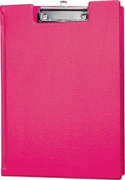Maul klemmap met kopklem en insteekmap, uit PP, voor ft A4, roze