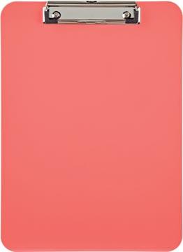 Maul plaque à pince, en PP, pour ft A4, rose