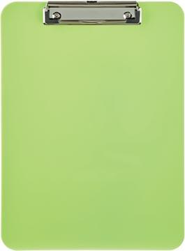 Maul plaque à pince, en PP, pour ft A4, citron vert