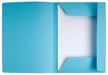 Exacompta chemise de classement Super 210, avec 3 rabats, bleu clair