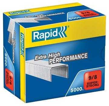 Rapid Agrafes 9/8, galvanisées, boîte de 5.000 agrafes