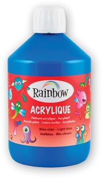 Rainbow peinture acrylique, flacon de 500 ml, bleu clair
