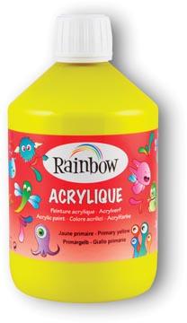 Rainbow peinture acrylique, flacon de 500 ml, jaune