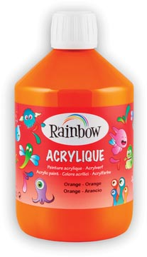 Rainbow peinture acrylique, flacon de 500 ml, orange