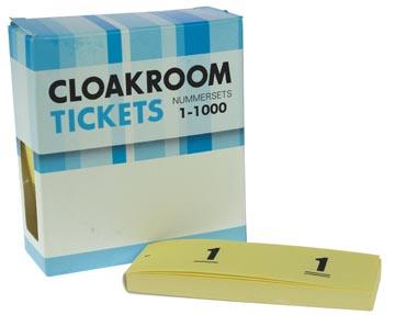 Blocs numérotés, 1 à 1000, carnets pour vestiaire, jaune