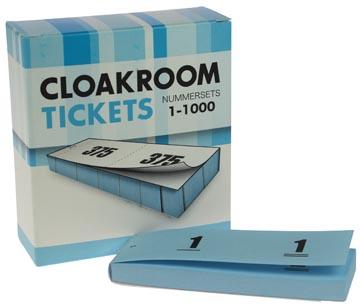 Blocs numérotés, 1 à 1000, carnets pour vestiaire, bleu