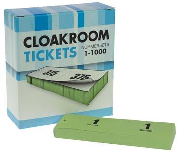 Blocs numérotés, 1 à 1000, carnets pour vestiaire, vert