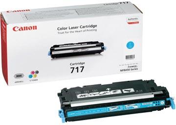 Canon toner 717C, 4.000 pagina's, OEM 2577B002, cyaan