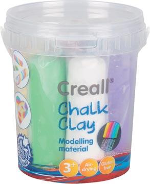 Creall Pâte à modeler pour craie de trottoir, seau de 6 colours