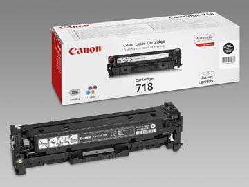 Canon toner 718BK, 3.400 pagina's, OEM 2662B002, zwart